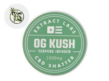 Wax CBD Shatter CBD 97% Extract Labs