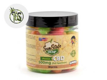 Bonbons CBD Bonbons Vers Acidulés CBD Sunstate