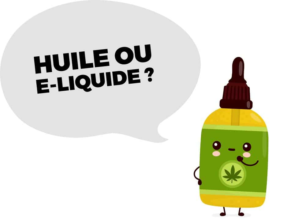 huile ou e-liquide cbd